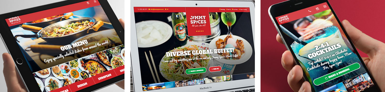 new jimmy spices website visuals